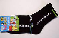 Спортивные детские носки с высокой резинкой черного цвета