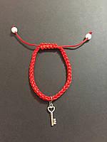 Браслет красная нить оберег от сглаза с талисманом Ключ желаний