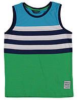Майка для мальчика LC Waikiki в сине-зелено-голубые полоски 100% хлопок
