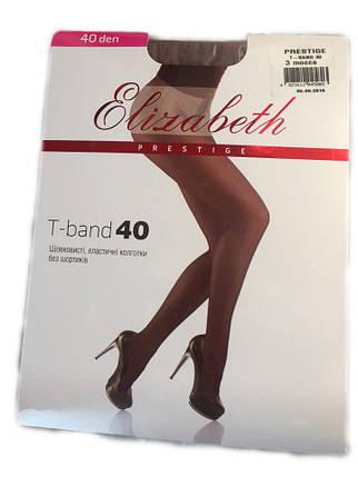 Женские колготки Elizabeth Prestige t-band 40 den mocca, фото 2