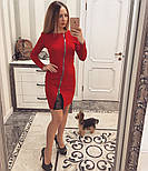 Женское стильное платье со змейкой (4 цвета), фото 3