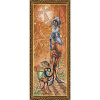 СР 6140 Дон Ки Кот и Санчо.  Набор для вышивания нитками на канве с нанесенным фоновым рисунком