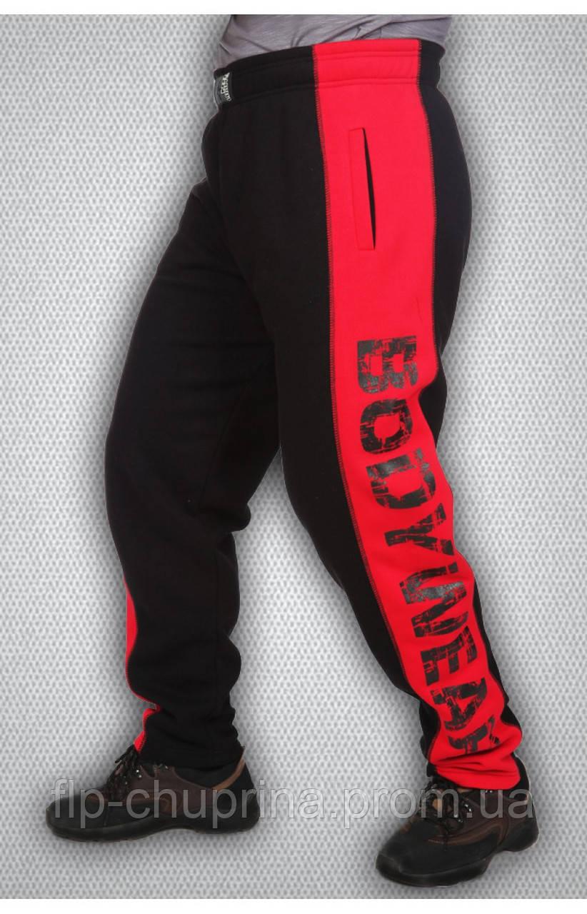 Мужские спортивные зимние штаны красные