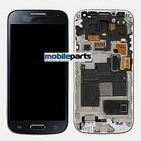 Оригинальный Модуль (дисплей+сенсор) для Samsung Galaxy S4 Mini + Рамка, Синий