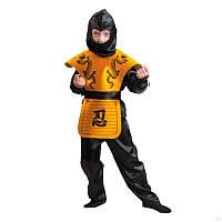 Карнавальный костюм Ниндзя желтый