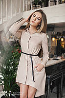 Женское платье-рубашка с поясом