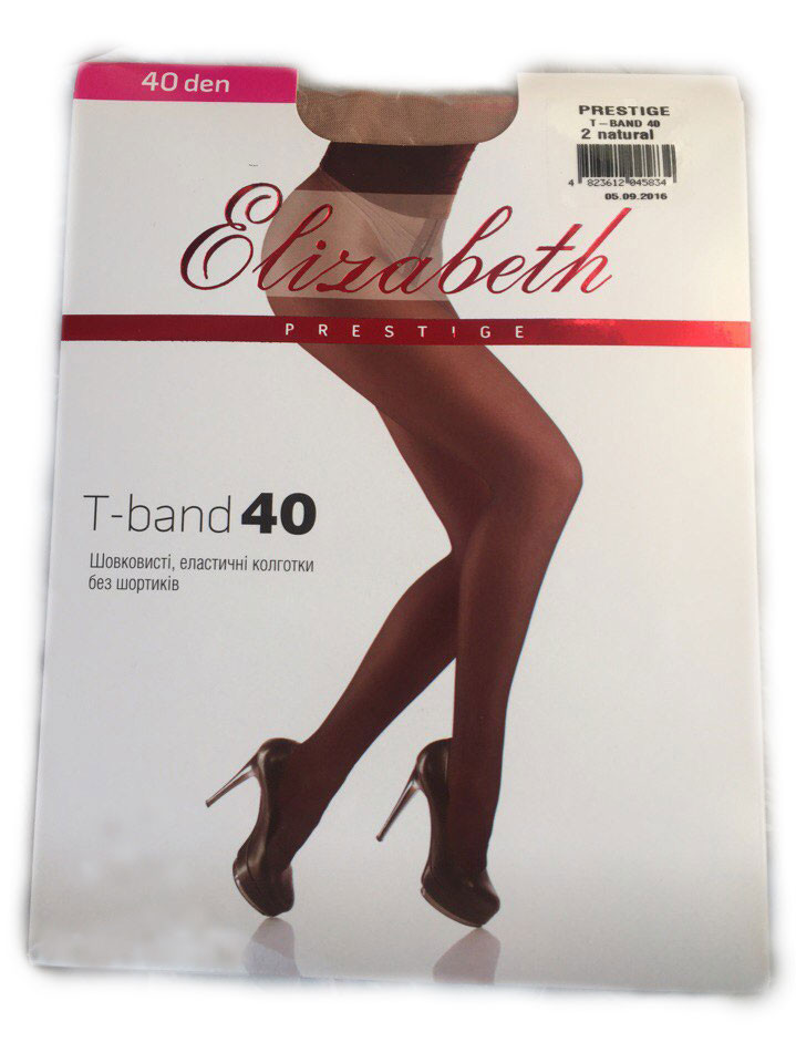 Женские колготки Elizabeth Prestige t-band 40 den natural