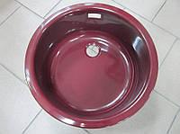 Кухонная мойка эмалированная Ilve 435 (burgundy)