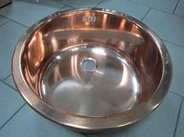 Кухонная мойка с нержавеющей стали + покрытие PVD Ilve 435 (copper)