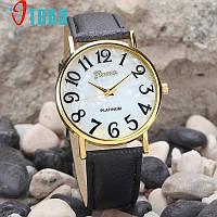 Модные  женские часы Geneva в классическом стиле, черные