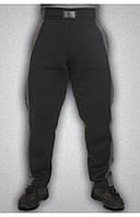 Мужские спортивные зимние штаны серые, фото 1