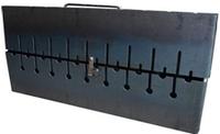Мангал-чемодан 2-х уровневый на 6 шт 1,5 мм