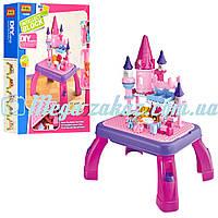 Конструктор Jixin Замок принцессы с игровым столиком: 76 деталей, 2 фигурки