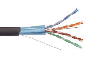 ITK Каб. вп F/UTP, кат.5E 4х2х24AWG solid, LDPE, 305м, чер. (для внеш. прокладки)