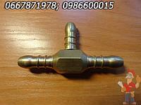 Штуцер 1/2 с левосторонней резьбой для подсоединения шланга к газовому балону , фото 1