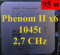 Процессор AMD Phenom II X6 1045T, 2.7GHz,sAM3,Tray (HDT45TWFK6DGR)