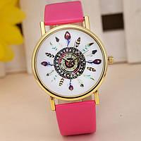 Оригинальные модные  женские часы ,розовые