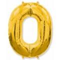 Фольгована цифра нуль золото