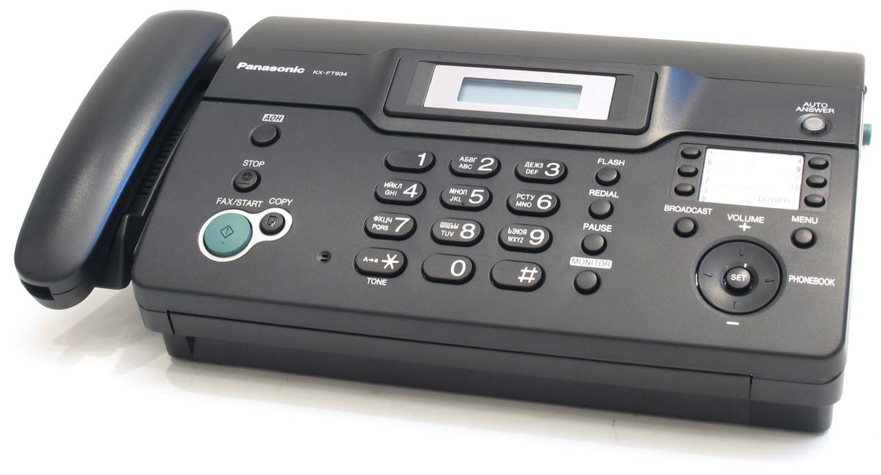Факс Panasonic KX-FT934 на термобумаге, бу