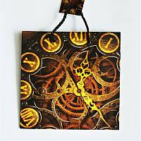 Подарочный пакет ЧАШКА 16х16х7,5  Старинные часы