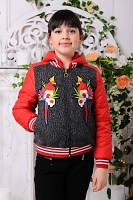 Куртка весенняя короткая для девочек, фото 1