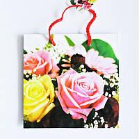 Подарочные пакет  Чашка 16х16х7,5 Коктейль из роз