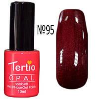 Гель-лак Tertio 10 мл №095 - Фиолетовое бордо с микроблеском