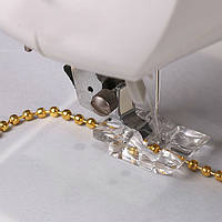 Лапка для бисера и крупных шнуров для бытовых швейных машин