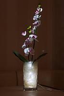 """Светодиодные цветы в вазе """"Белая орхидея"""""""