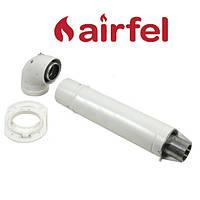 Комплект для коаксиального дымохода 1000 мм, 60/100 (Condensing) Airfel