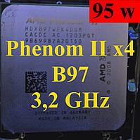 Процессор (б/у) AMD Phenom II X4 B97 (Phenom II X4 955), 3.2ГГц, Tray (HDXB97WFK4DGM)