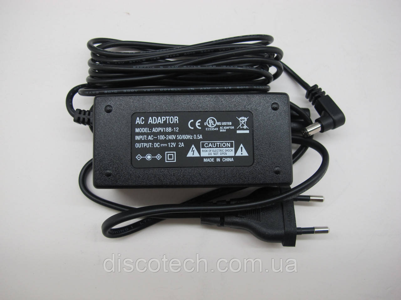 Блок питания 12V/ 24W 2A IP20 ADPV18B-12