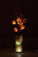 """Светодиодные цветы в вазе """"Желтые розы"""". Декоративное освещение"""