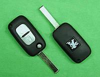 Peugeot - корпус выкидного ключа 2 кнопки, HU83 (Citroen)