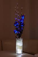 """Светодиодные цветы в вазе """"Синие розы"""". Светодиодные ночники"""