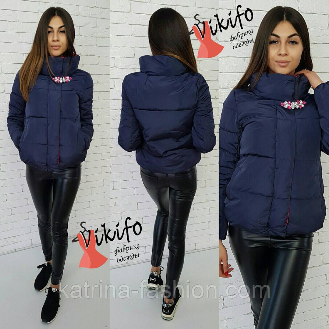 cd72b06ecfd Женская Модная Демисезонная Куртка с Брошью (4 Цвета) — в Категории