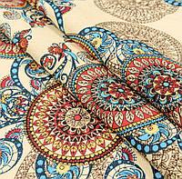 Ткань для скатерти рогожка Абстракция