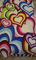 Тас полотенце пляжное 75х150 Сердца