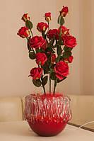 """Светодиодные цветы в вазе """"Красные розы"""""""