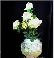 """Светодиодные цветы в вазе """"Белые розы"""". Подарок девушке, женщине"""
