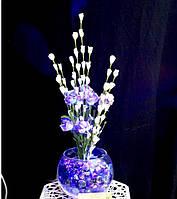 """Светодиодные цветы в вазе """"Синие розы"""". Ночник светодиодный"""
