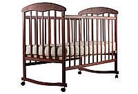 Кроватка для новорожденных (Ольха темная)