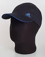 Бейсболка спорт Adidas коттон черная с ярко-синим кантом