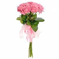 Букет из роз розовых 9 шт.