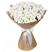 Букет из хризантемы белой 9 шт.