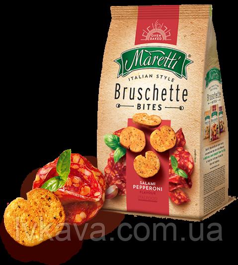 Гренки Bruschette Salami Pepperoni Maretti, 70 гр