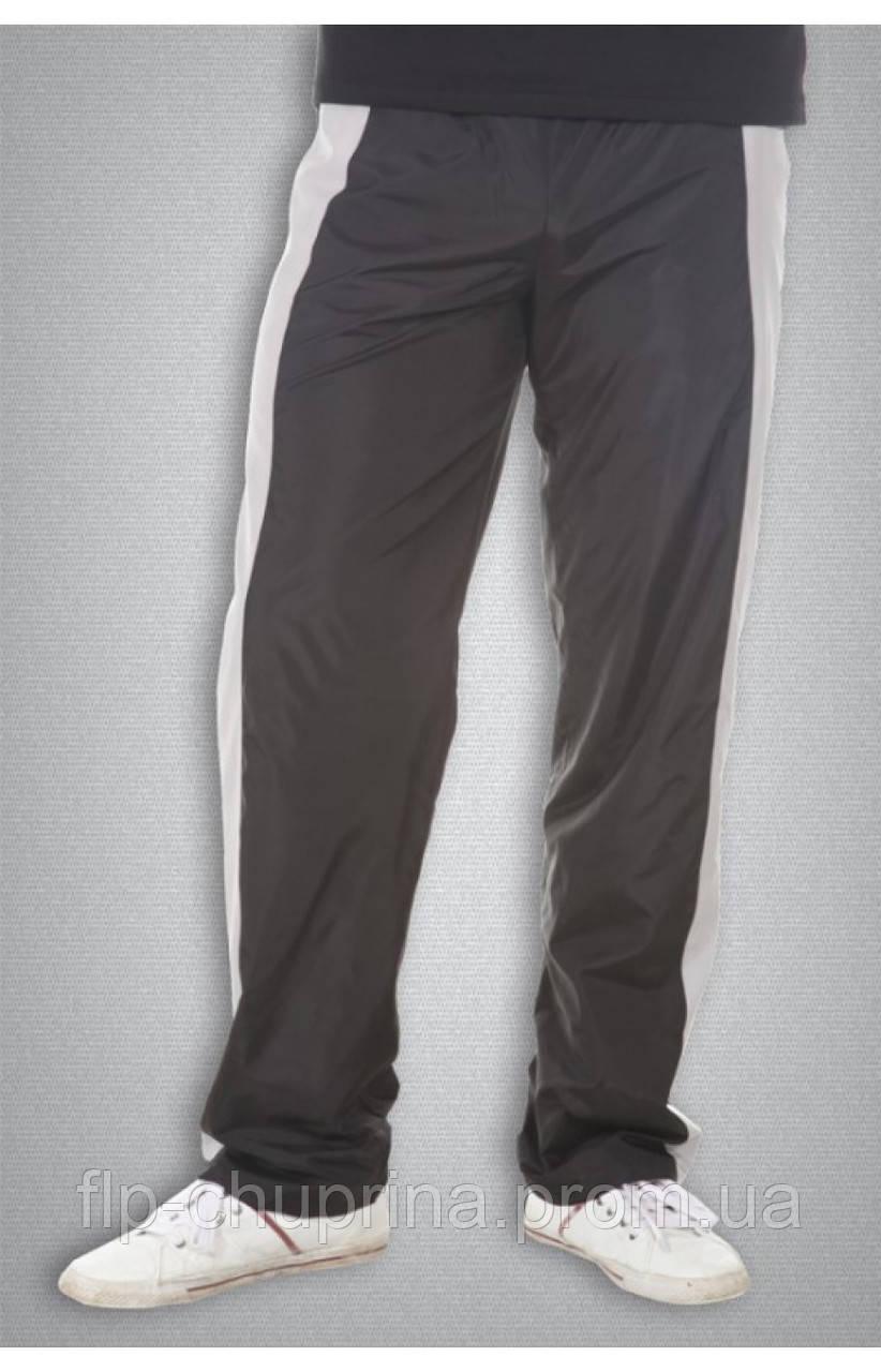 Чоловічі спортивні болоневі штани чорні