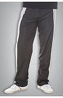 Мужские спортивные болоньевые штаны черные, фото 1