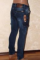 Мужские джинсы с боковыми карманами джоггеры от REDMAN срезинкой