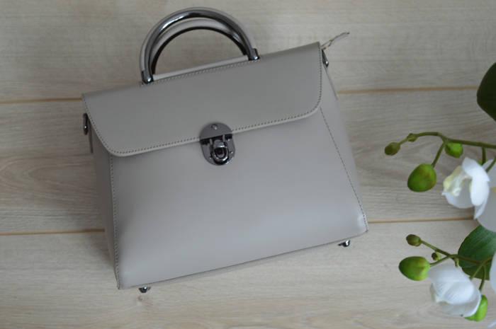 Кожаная сумка Virginia Conti (тауп)